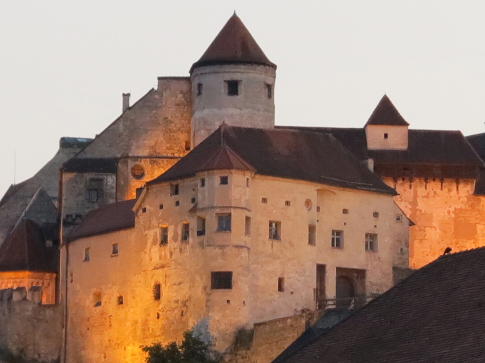 Part of Burghausen Castle. The castle hill was already settled in the Bronze Age.