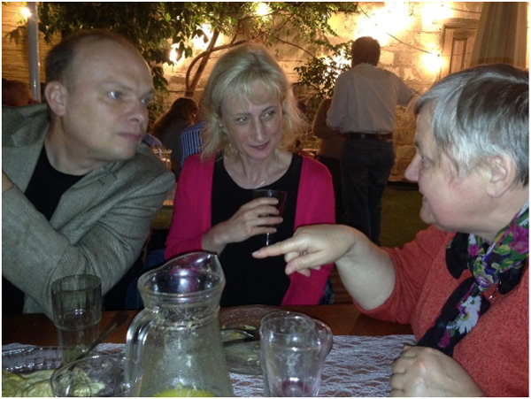 From right to left: Prof. Irena Sielamowicz, Ms. Lucie Matouskova and Prof. Vaclav Matousek