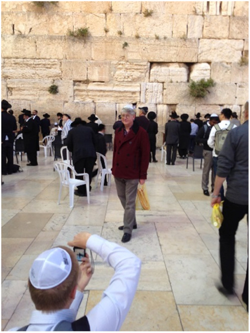 Prof. Mike Bradley in front of the Western Wall