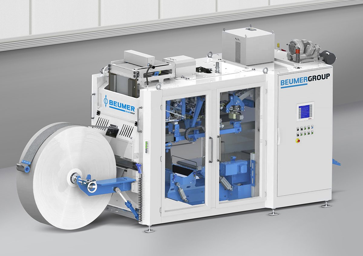 Fig. 1: BEUMER sealpac – high throughput, availability and a compact design are key features of the new system.