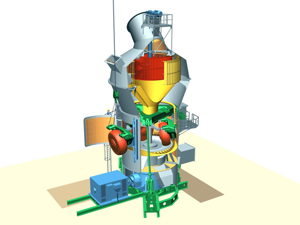 Gebr. Pfeiffer MPS 3750 B Raw Material Mill with Lift and Swing Technology