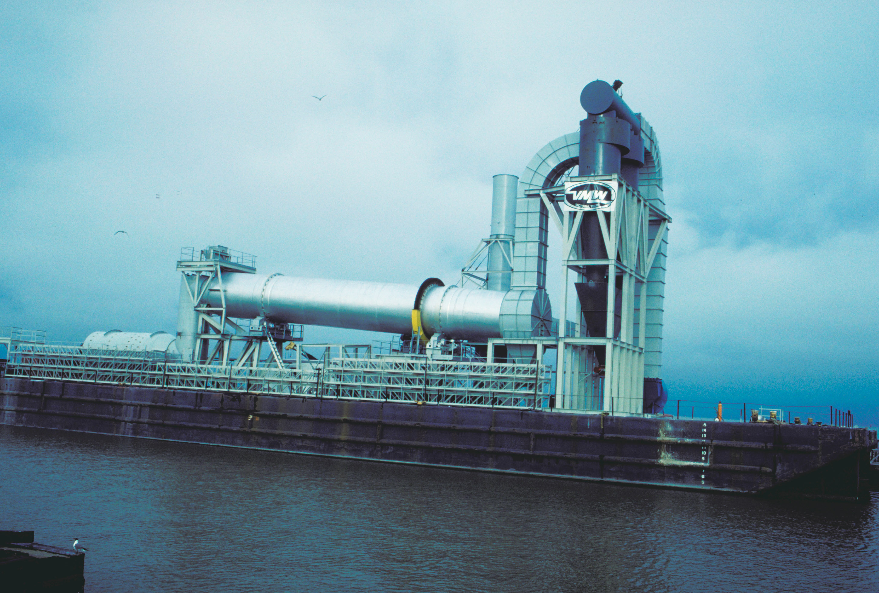 Rotary Dryer shipped on barge