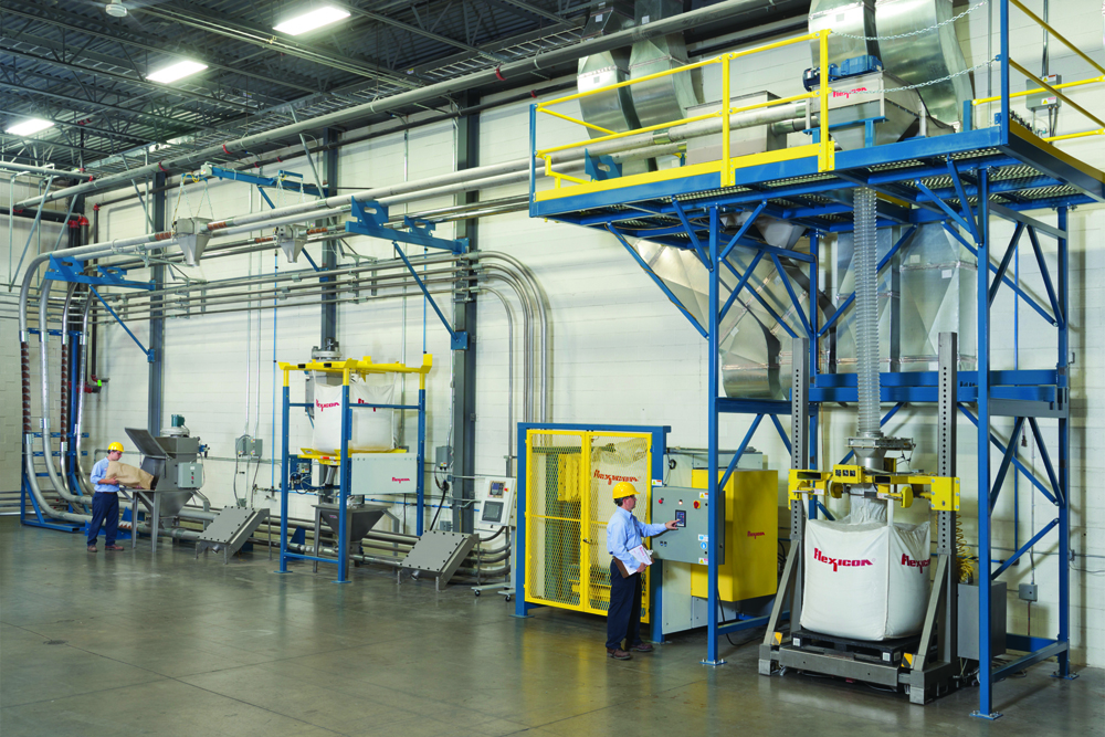 FLEXI-DISC™ tubular cable conveyors can be readily configured with full size upstream and downstream equipment to simulate customer processes, and tested using customer-supplied materials to verify performance.