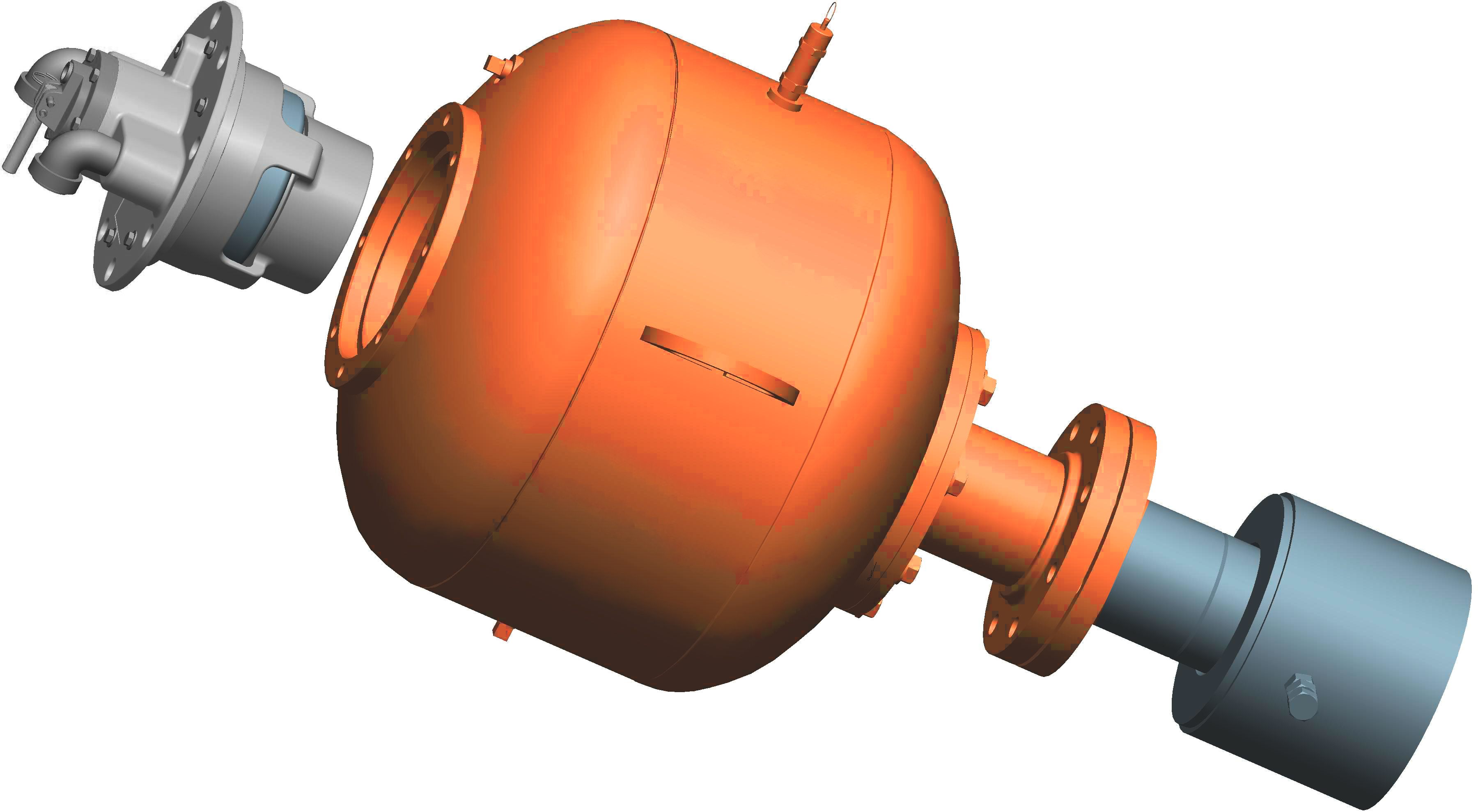 The central valve design delivers a direct air path, with maximum force output and low air consumption.
