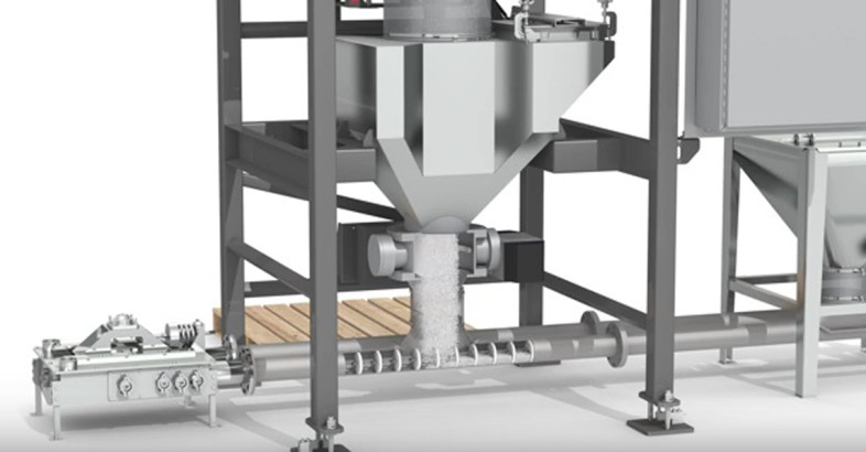 NBE National Bulk Equipment: Bulk Bag Discharger with Integrated Clean-In-Place (CIP)