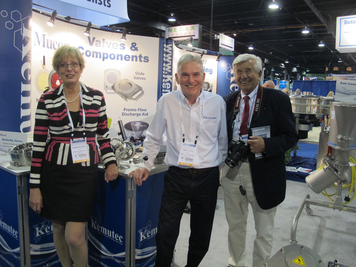 Karin Galloway, Sales Manager (left) and Rob J. Dallow, President, KEMUTEC Group Inc. USA