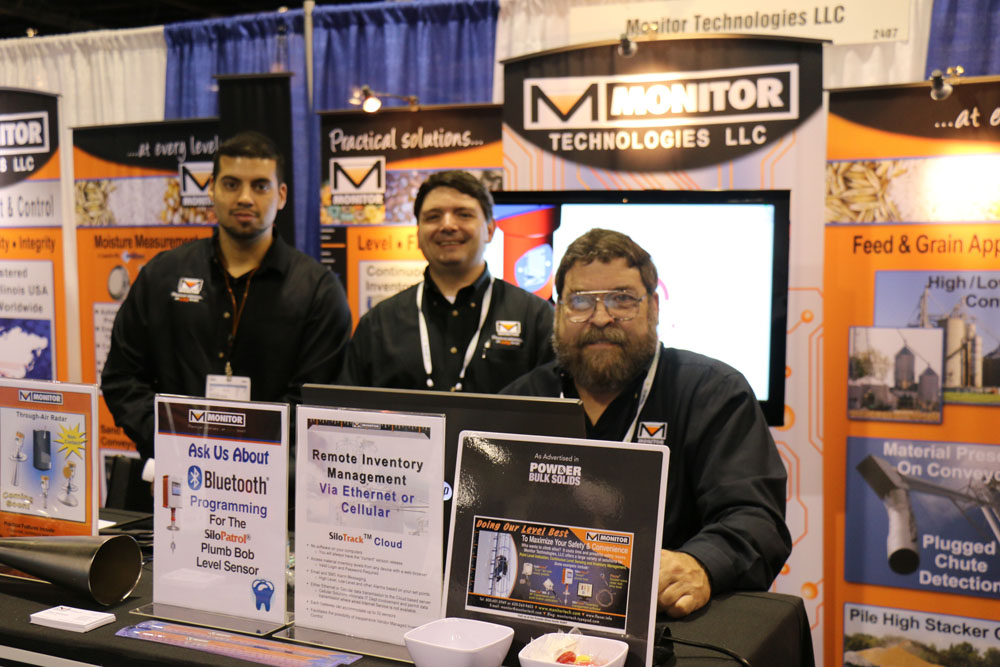 Christopher Otte, Marketing Communications Manager (center) and Gregory A. Derudder, Product Manager (right), Monitor Technologies LLC