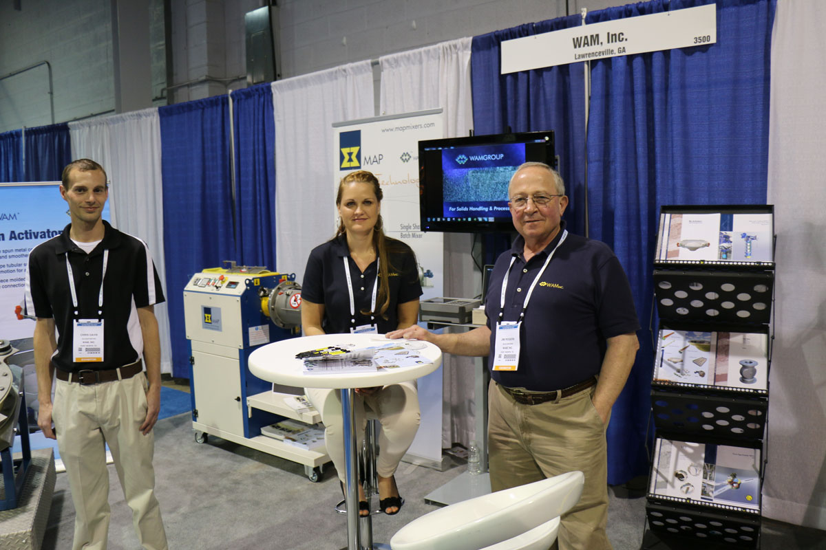 Jim Rogers, Sales Manager (right), WAM, Inc. Texas Div.