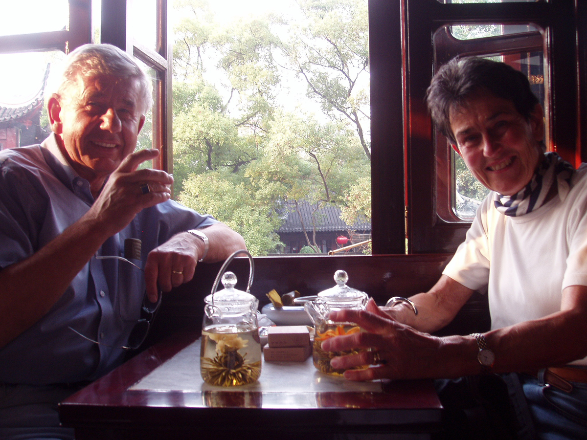 Ute and Reinhard at Chinese Teahouse