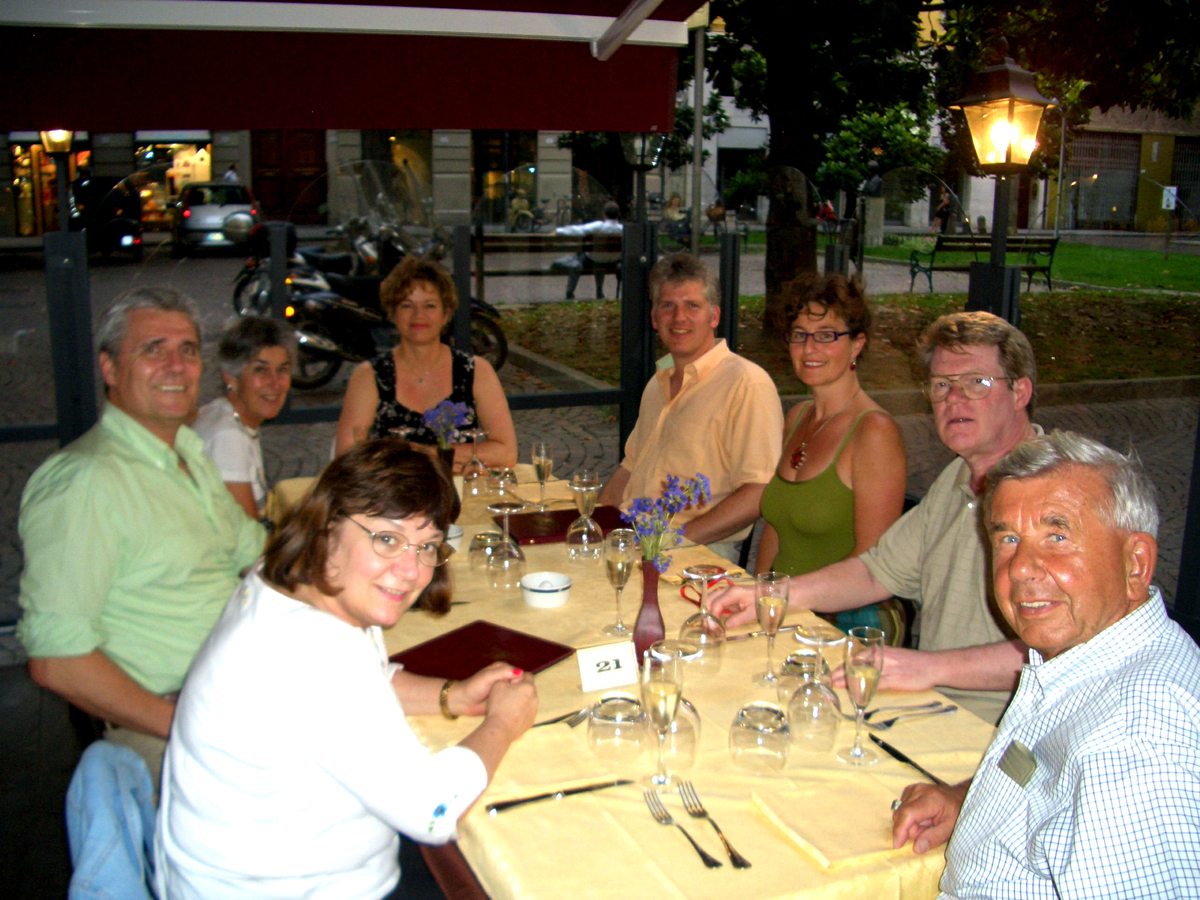 A great evening; Mrs. Grass at head of table.