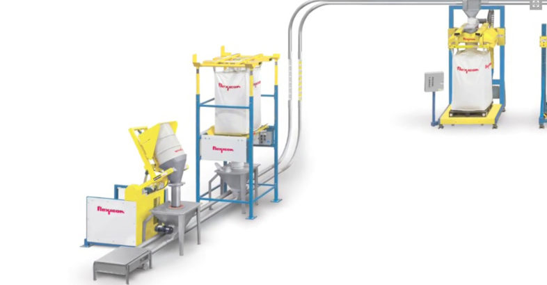 Flexicon: Bulk Bag Weigh Batching System with Integral Tubular Cable Conveyor