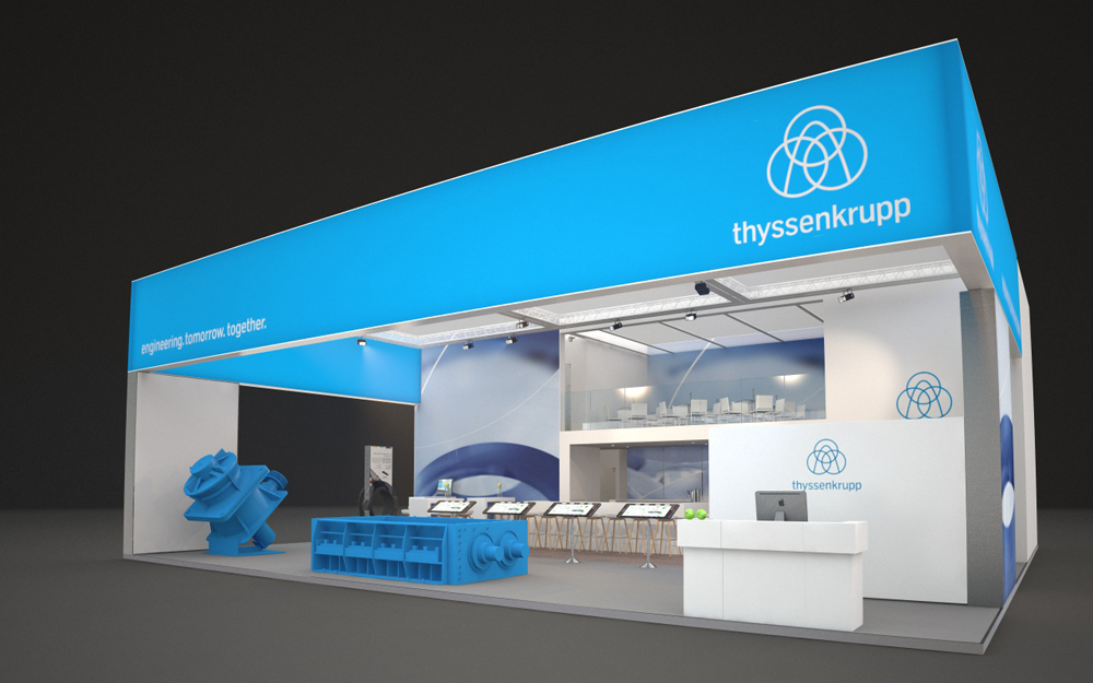 home of thyssenkrupp Industrial Solutions at bauma 2016: hall B2, booth 203
