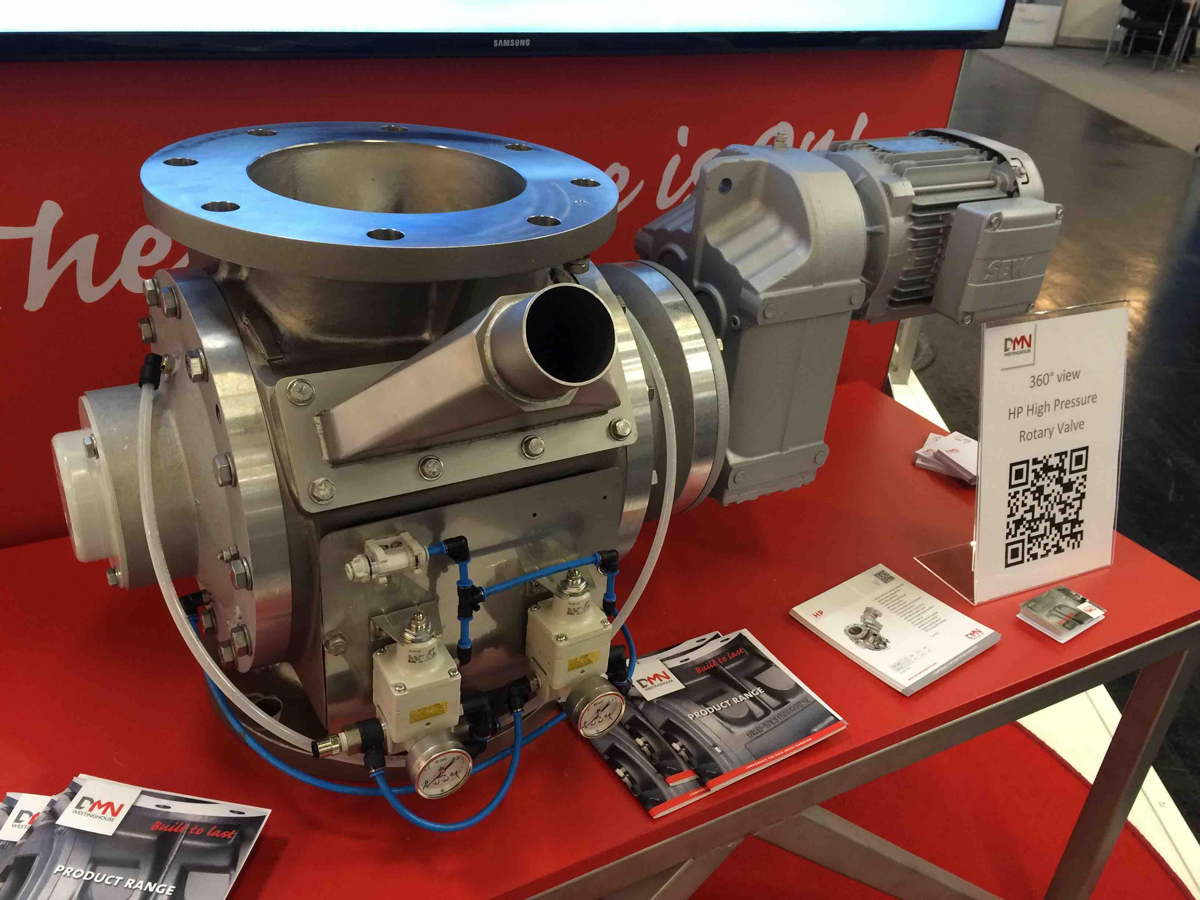 DMN High Pressure Rotary Valve presented at POWTECH 2016