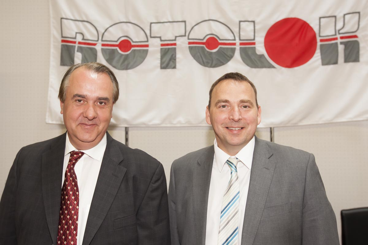 Liam McCauley, VP Operations, Rotolok Valves Inc., USA and Sean Swales, Managing Director, Rotolok (Holdings) Ltd., U.K. (from left)