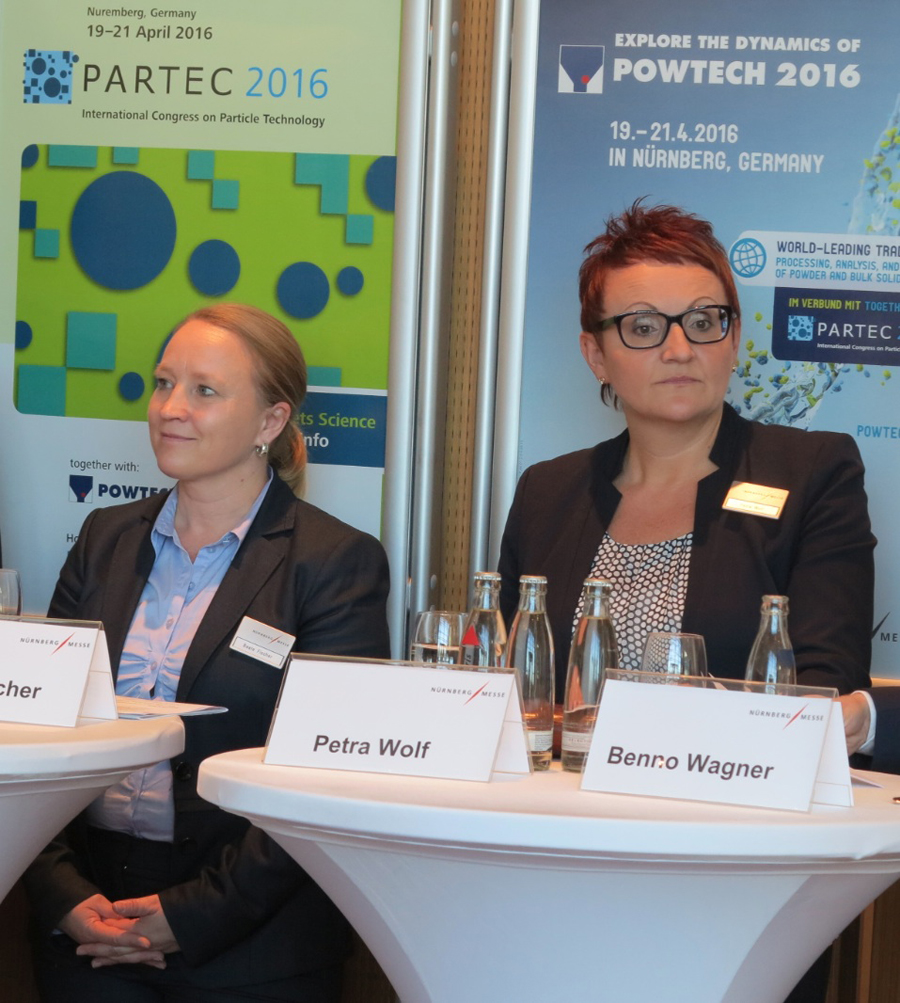 Beate Fischer, Manager POWTECH and Petra Wolf, Member of the Management Board, NürnbergMesse GmbH (from left)