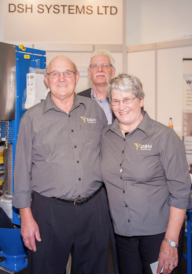 Trevor and Judy Schwass, Owners, and Ian Walton, CEO, DSH Systems Ltd., New Zealand