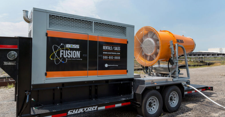 Giant Mobile Dust Control Design Delivers Extended Coverage
