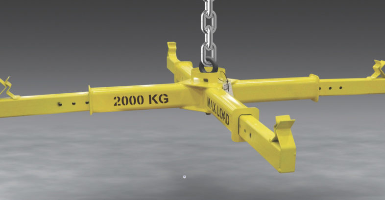 Flexicon: Bulk Bag Lifting Frame with Adjustable Arms