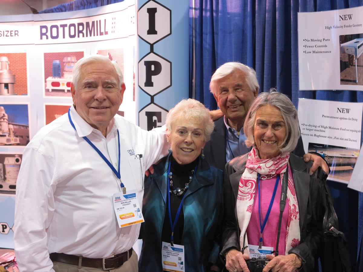 Ronald C. Miller, President, with Leonore and the Wohlbiers