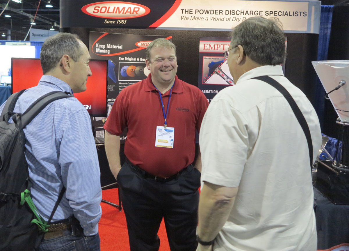 Drew Johnson, Manager, Customer Quality, Solimar Pneumatics USA (center)