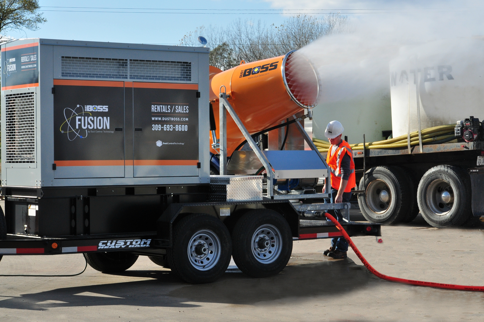 The DB-60 Fusion features a workhorse electric dust suppression design with a 45 KW generator set.