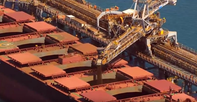 Rio Tinto loads first ship from its 290 Mt/a expansion programme