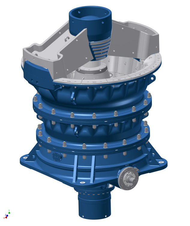 World's largest gyratory crusher: KB 63-130 – higher performance, lower weight.