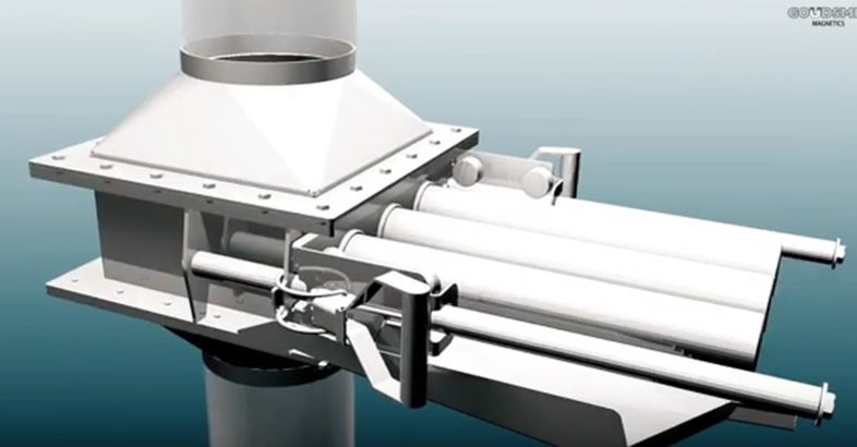 Goudsmit New Easy Cleaning Cleanflow Magnet – with Pneumatically Operated Bars (12.000 gauss)