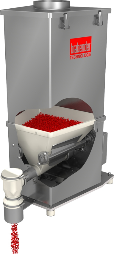 FlexWall®Plus loss-in-weight feeder with paddle-massaged flexible PUR hopper for all bulk ingredients FlexWall®Plus-Dosierdifferenzialwaage mit paddelmassiertem flexiblem PU-Trog für alle Schüttgüter