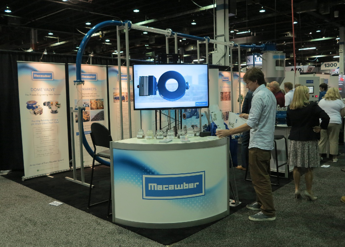 Macawber Engineering, Inc. at the Powder & Bulk Solids International Exhibition & Conference 2016 (Photo: Reinhard H. Wöhlbier)