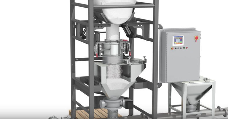 National Bulk Equipment: NBE Bulk Bag Unloader Provides Closed-cycle Dust Containment
