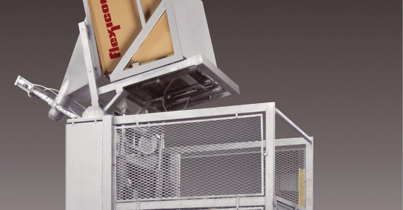 Flexicon: Sanitary High-Lift Box/Container Tipper