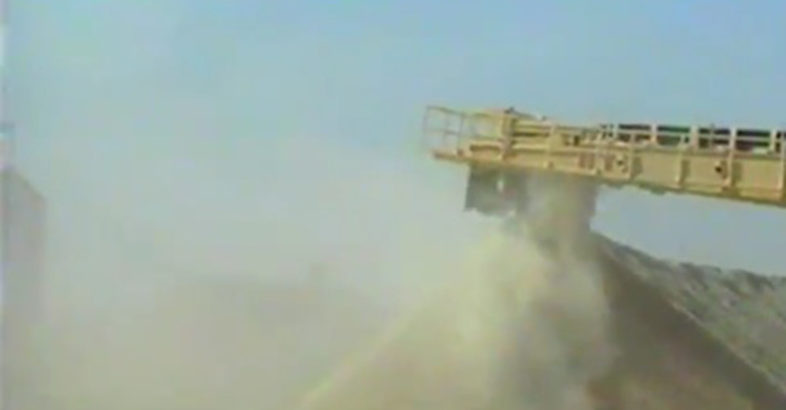 VIVO Consult: Stockpile Dedusting Before and After Dry Fog Application