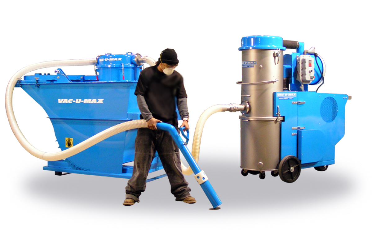 Industrial Suction Systems : Vac u max exhibits osha compliant industrial vacuum