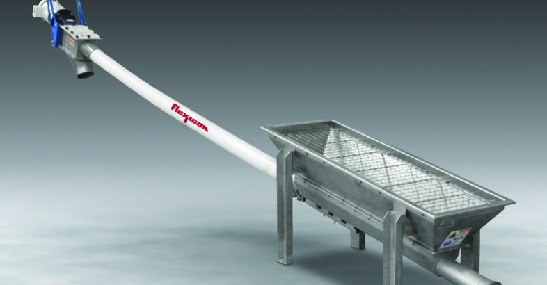 Flexicon: Flexible Screw Conveyor with Trough Hopper Accommodates Multiple Sources