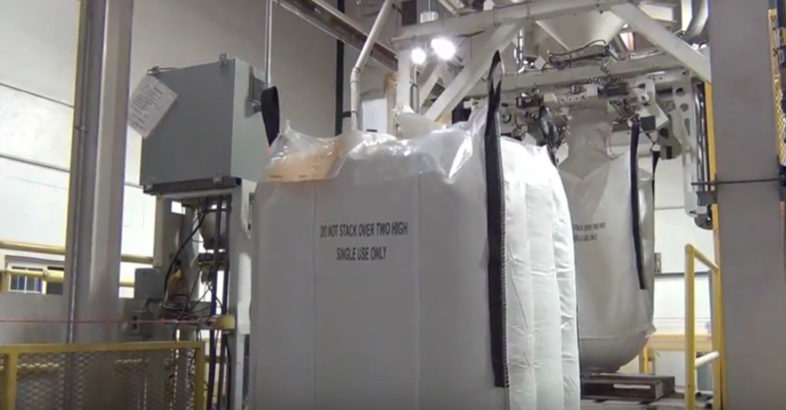Chantland MHS Bulk Bag & Box Filling Scale System in Seed Facility