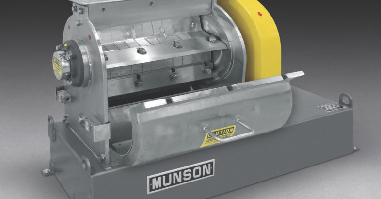 MUNSON: Rotary Knife Cutter Reduces Grains, Spices, Roots into Controlled Sizes with Minimum Fines