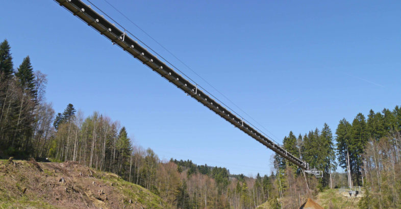 Tüfentobel RopeCon®: Material is passed over to second system in mid-air for even more flexible discharge point