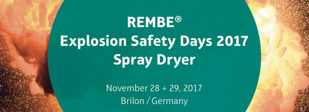 REMBE: Explosion Safety Days – Spray Dryer