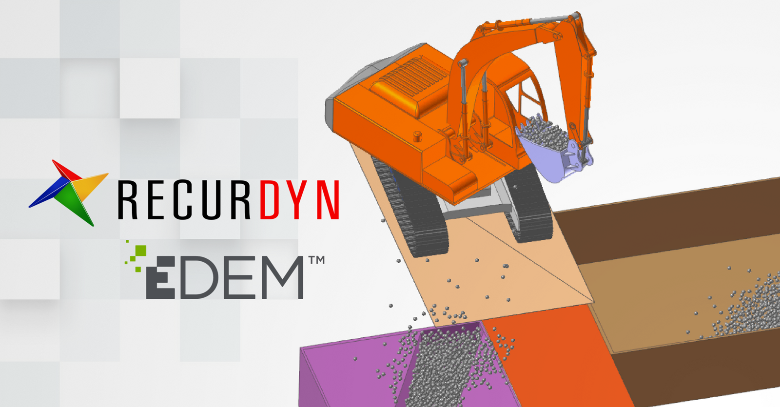 EDEM announces new co-simulation solution with multi-body dynamics package RecurDyn