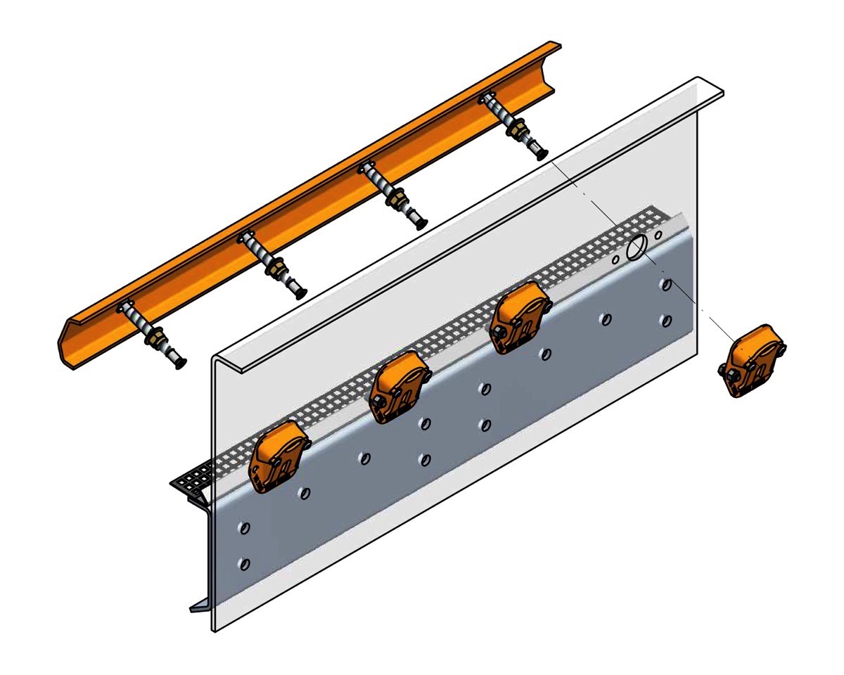 The Ty-Rail™ quick-tensioning system cuts screen media change-out time by about 50 percent.