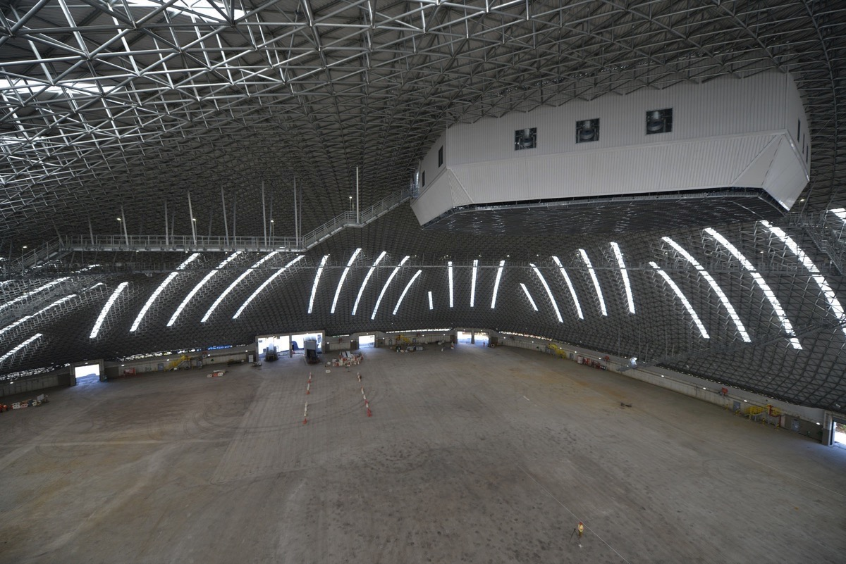 This Freedome spans over 200 m - without any indoor columns.