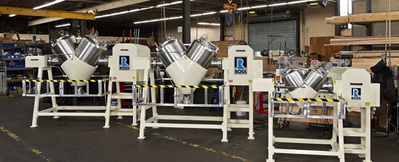 Ross: Tumble Blenders now available with Safety Light Curtain Feature
