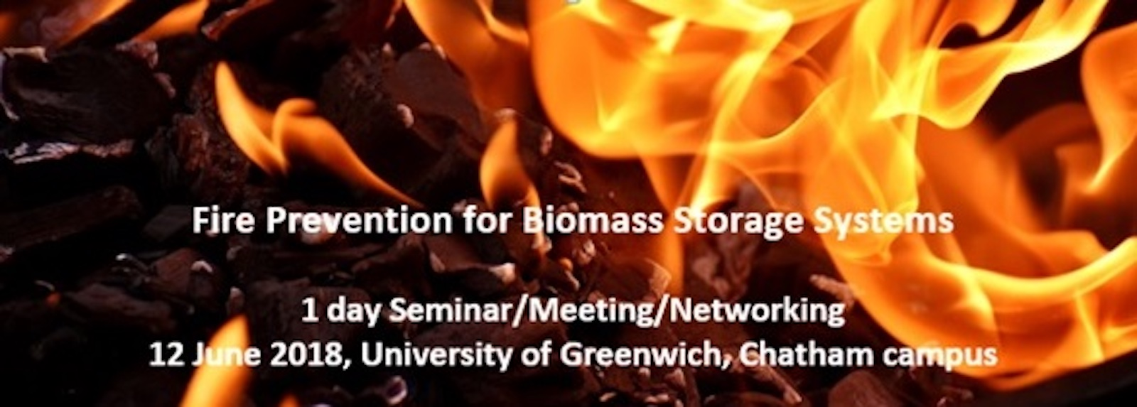 "Free Seminar ""Fire Prevention for Biomass Storage Systems"" – June 12, 2018, Chatham Maritime, UK"