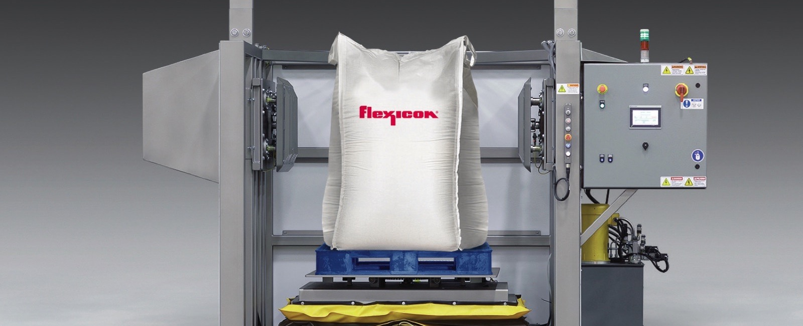 Flexicon: Bulk Bag Conditioner has Laser Safety Curtain