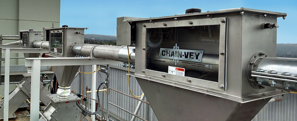 Modern Process Equipment: Chain-Vey for Flour outperforms Screw Conveyors and Pneumatic Conveyors