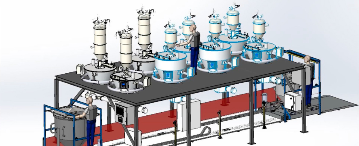 Sterling Systems & Controls: Custom Batching System with Mixing Containers