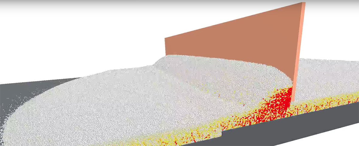 EDEM: Simulation of the Powder Raking Process in Additive Manufacturing