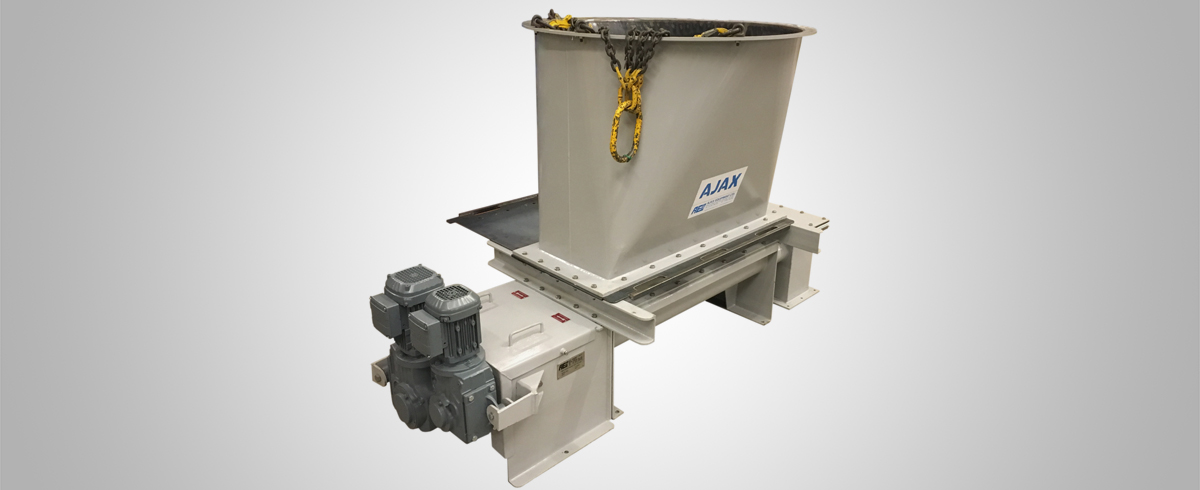 Ajax Equipment supplies Hopper and Twin Screw Feeder for Powder Handling