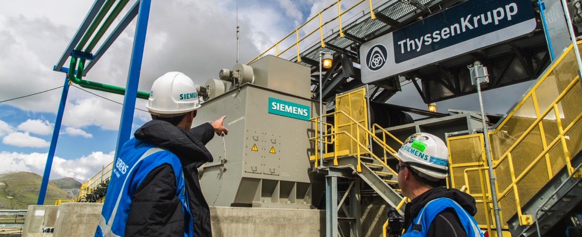 Siemens: Gearless Conveyor Drives help Mines in South America to transport large Volumes economically